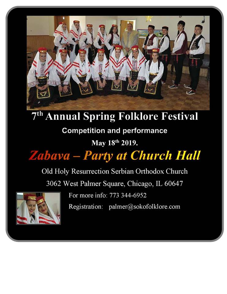 7th Annual Spring Folklore Festival - 18 maj 2019 @ Old Holly Resurrection Serbian Orthodox church
