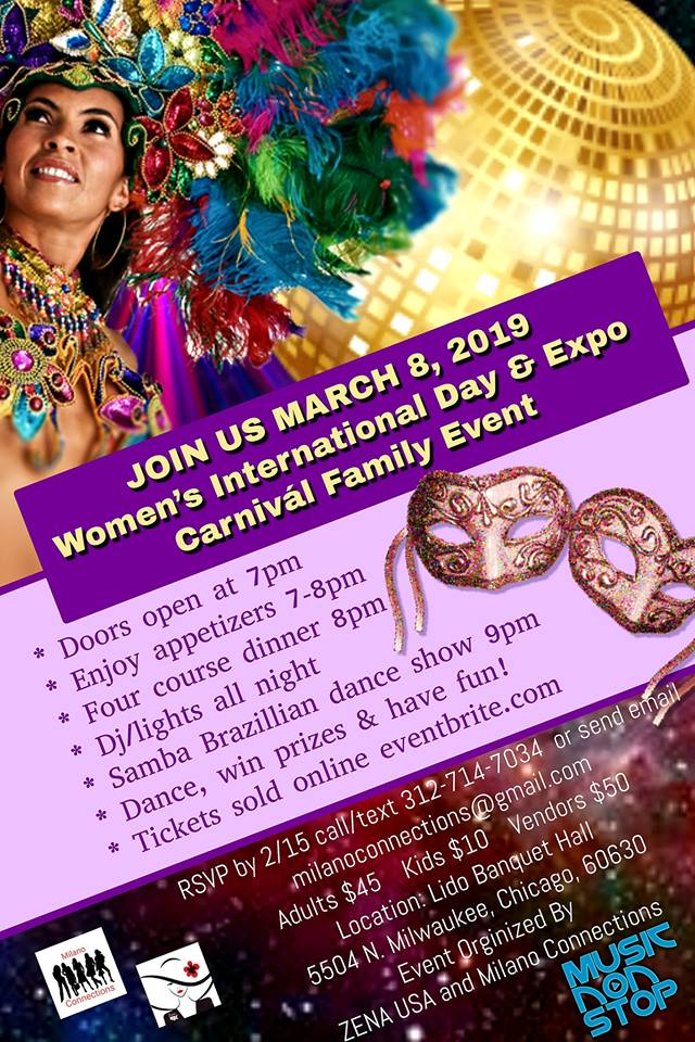 Women's International Day & Expo - Carnivál Family Event! MARCH 8. @ Lido Banquet Hall