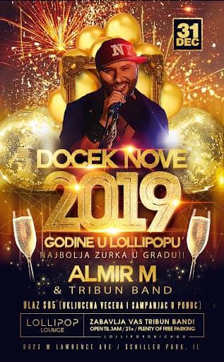 Lollipop - Docek Nove godine (Almir M & Tribun Band) @ Lollipop