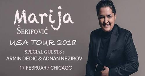 MARIJA ŠERIFOVIĆ - USA TOUR 2018 , KONCERT U ČIKAGU @ Hanging Gardens Banquets