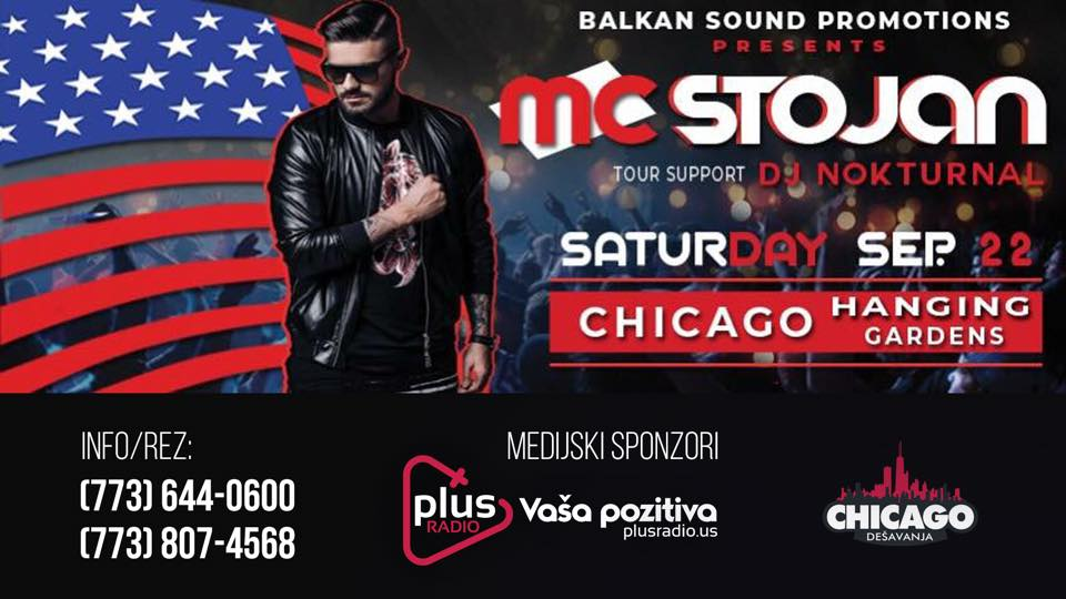 MC Stojan , koncert u  Chicagu 2018 @ Hanging Gardens Banquets