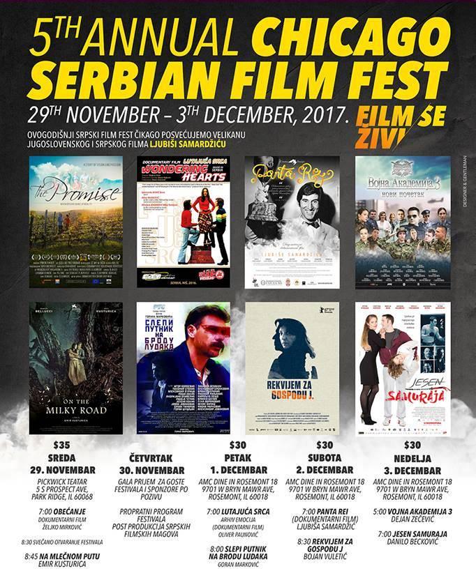 Serbian Film Fest 2017 - od 29 Novembra do 3 Decembra