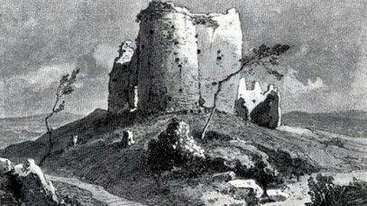 Tvrđava Žrnov na crtežu Feliksa Kanica