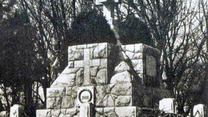 Spomenik palim junacima na Avali podignut 1922. godine, a srušen 1938. godine