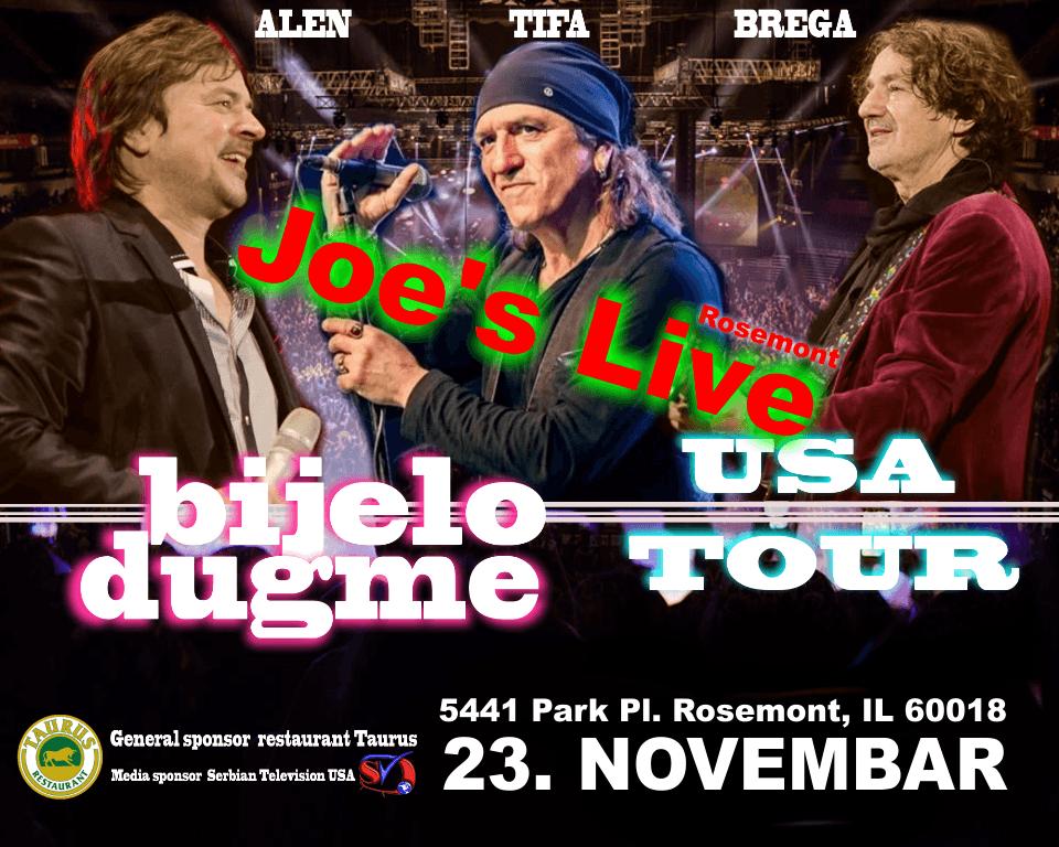 Bijelo Dugme USA Tour. Chicago koncert u Joe's Live - Rosemnot. Alen Tifa i Brega u Americi