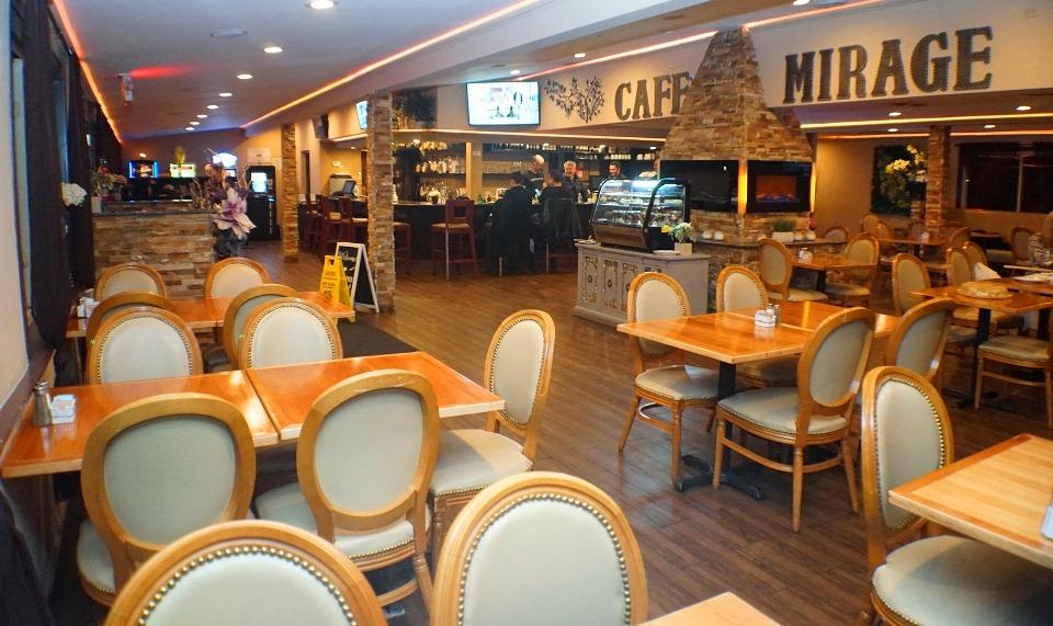 Mirage Cafe se nalazi na adresi 9845 Lawrence Ave ,Schiller Park, Illinois a za sve informacije I rezervacije tu je I telefon (847) 678-2614.