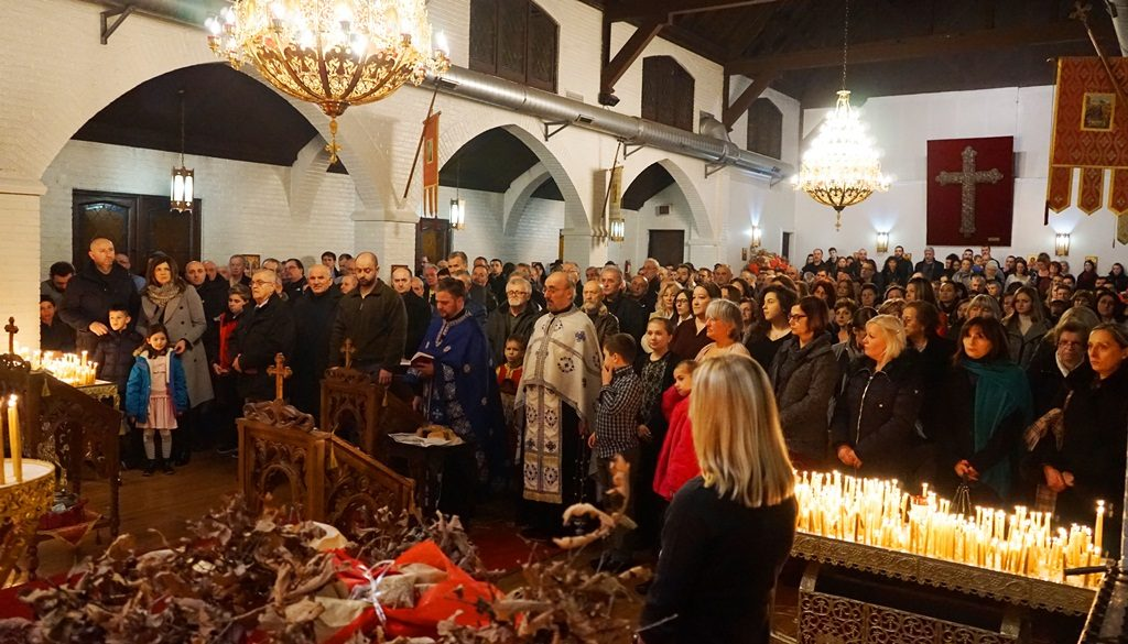 crkva Sveti Stefan Decanski Cikago - badnje vece