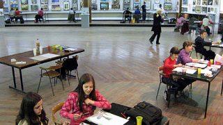 (07) Velika galerija Centra za kulturu Majdanpek, Mala škola slikanja u okviru izložbe Žene slikari
