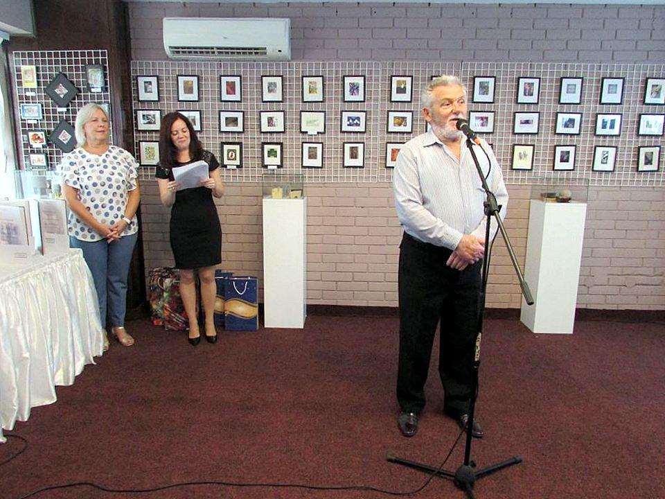 Zoran Mitrović, predsednik MajdanArta, na otvaranju izložbe