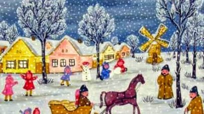Desanka-Petrov-Morar-Božićna-dečja-radost-ulje-na-platnu