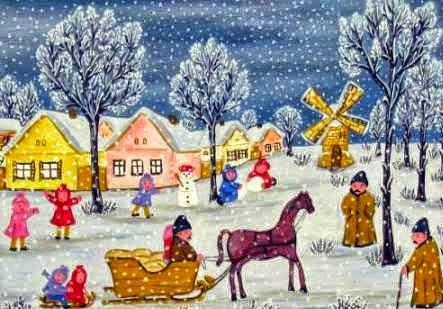 Desanka Petrov-Morar - Božićna dečja radost (ulje na platnu)